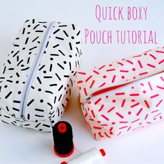 Quick and easy Boxy pouch sewing tutorial . Great beginner sewing project