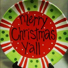 Fun holiday plate to paint...