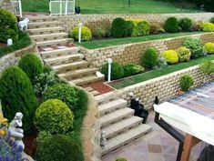 Lovable Retaining Wall Garden Ideas Ideas For Retaining Walls Retaining Wall Gar. - Lovable Retaining Wall Garden Ideas Ideas For Retaining Walls Retaining Wall Garden - Backyard Retaining Walls, Retaining Wall Design, Sloped Backyard, Sloped Garden, Landscaping On A Hill, Landscaping With Rocks, Landscaping Ideas, Garden Wall Designs, Terrace Garden