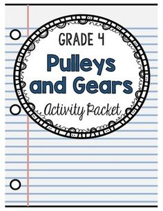 The Pulleys and Gears activity packet is designed to meet the curriculum expectations for the Ontario Grade 4 Science curriculum. This packet has students explore and experiment with pulleys and gears. Pulleys and gears can be found all around us and this activity packet presents several lessons, readings, worksheets and experiments that can be completed by students to help them understand the importance of both pulleys and gears.