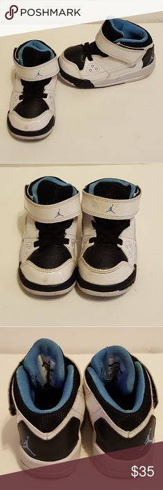 Boys NIKE JORDAN shoes size 6c Black and white,  in excellent condition Nike Shoes Sneakers