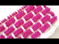 Şişle Tuğla Desen Örgü / Brick Knit Pattern - YouTube Two Color Knitting Patterns, Sweater Knitting Patterns, Knitting Stitches, Free Crochet, Knit Crochet, Brick Stitch, Crochet Hooded Scarf, Yarn Projects, Free Baby Stuff