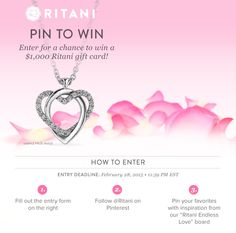 Click for your chance to win a $1000 gift card from Ritani! Explore wedding and jewelry inspiration from @Ritani!