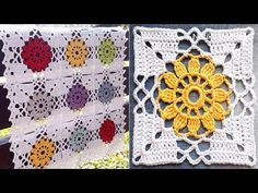 Best 12 Crochet flower granny square motif is one of those beautiful and easy patterns each and every crocheter would love to make. These colorful squares… – SkillOfKing. Crochet Squares, Crochet Granny, Crochet Motif, Crochet Flowers, Crochet Stitches, Knit Crochet, Crochet Video, Crochet Basics, Crochet For Beginners
