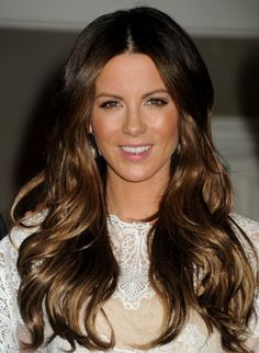 Kate Beckinsale Long Layered Hairstyles 2012