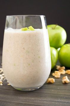 Apple Walnut Smoothie...Granny Smith Apples blended for a thick and creamy smoothie | Pick Fresh Foods