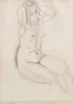 Henri Matisse (1869-1954), Femme Nue Assise (32 x 24 cm) on ArtStack #henri-matisse-1869-1954-4 #art