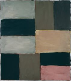Sean Scully - Cut Groud Blue Pink 2011