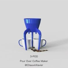 Pour Over Coffee Maker ☕️For Printing , fits most coffee mugs, uses cone coffee filters Coffee Creamer, Coffee Mugs, Melitta Coffee Maker, Fusion 360, Best Travel Coffee Mug, Chocolate Covered Coffee Beans, Pour Over Coffee Maker, Coffee Type, Coffee Filters