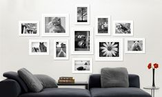 From $35 for a 11 Piece Wall Photo Frame Set, 26 Piece ($49), or 30 Piece ($55) White Highlights, Large Photos, Basement Remodeling, A 17, Interior Styling, Photo Wall, Gallery Wall, Colours, Frame