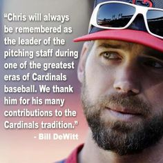 Chris Carpenter will be missed but wishing he and his family nothing but good things in the future.