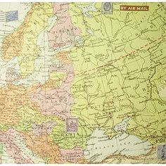 Gift Wrap - Vintage Europe Map
