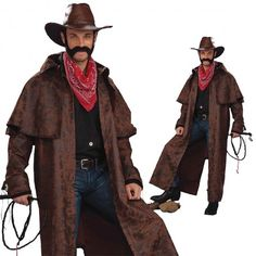 Cowboy Duster Coat Western Costume