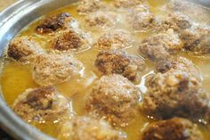 Molly Weasley's Meatballs with Onion Sauce