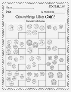 Nice Flying High In First Grade Finishing Up Money freebie in Counting Coins Worksheets Teaching Money, Teaching Math, Teaching Time, Teaching Spanish, Teaching Tools, Money Activities, Math Resources, Second Grade Math, Grade 1