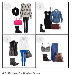 4 Outfit Ideas to wear with this season's hottest combat boots #combat #boots #fall #fashion #polyvore