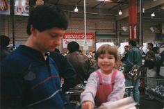 Dasha and Sanya at Costco 1997