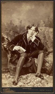 Oscar Wilde in America, 1882 //  by Napoleon Sarony, NYC