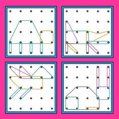 Geoboards Animals Task Cards