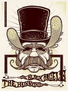 The Black Angels concert poster by Jim Mazza