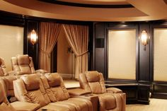 Luxurious and sophisticated home theater design.  1 of 10 projects by House of L.