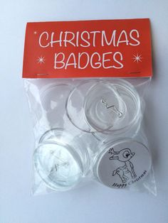 Make your Own Christmas Badges 55mm Pack of 10