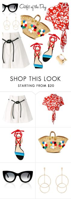 """Outfit of the Day"" by dressedbyrose ❤ liked on Polyvore featuring 3.1 Phillip Lim, GCDS, Alexandre Birman, Muzungu Sisters, Thierry Lasry, Accessorize, Trina Turk, Petit Bateau, ootd and polyvoreeditorial"