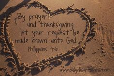 By Prayer and Thanksgiving