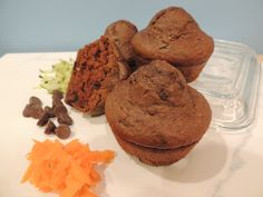 Zucchini, Carrot & Chocolate Muffins