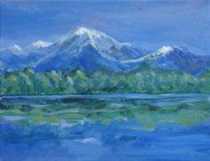 Acrylic mountains