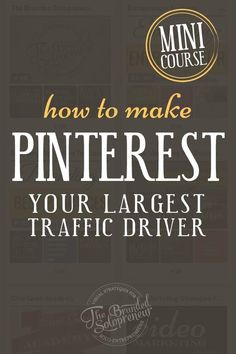 Want more Pinterest traffic? In this free mini course I'll give you the turn by turn directions you need to turn Pinterest into your largest traffic driver in just a few hours a month.