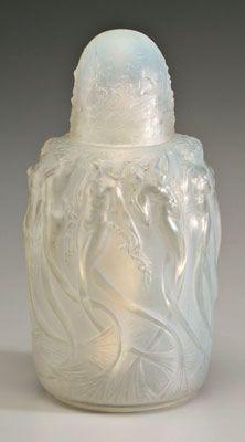 Sirenes perfume burner by Rene Lalique, ca.1920. Opalescent model