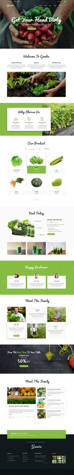 Gamba is a powerful, modern and creative #PSD template designed for food #organic shop #websites download now➯ https://themeforest.net/item/gamba-organic-psd-template/16928343?ref=Dataasata