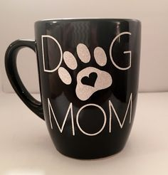 DOG MOM coffee mug,