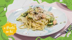 Reteta culinara Spaghette cu somon si zucchini din categoria 2 Portii = 20 LEI. Specific Romania. Cum sa faci Spaghette cu somon si zucchini Zucchini, Pizza, Lei, Ethnic Recipes, Youtube, Youtubers, Youtube Movies