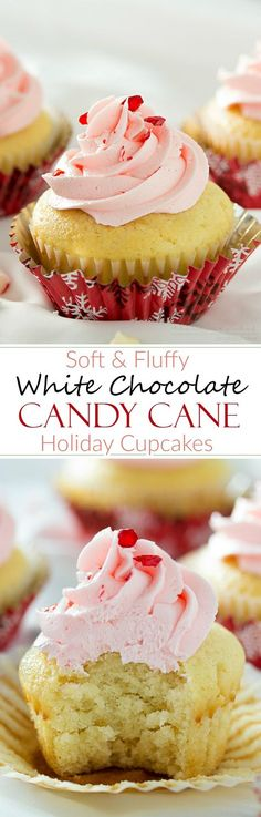 White Chocolate Cupcakes with Peppermint Buttercream | Rich white chocolate cupcakes with a delicate swirl of ultra creamy buttercream frosting laced with peppermint... perfect for any occasion!