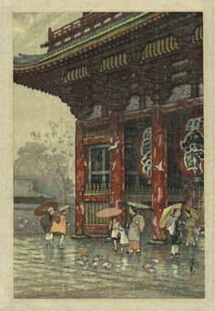EXCEEDINGLY RARE - Ginnosuke YOKOUCHI - Japanese Woodblock Print