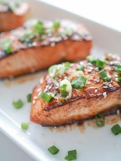 by Laura Linna: MAAILMAN PARAS TERIYAKILOHI Salmon Burgers, Ethnic Recipes, Food, Essen, Meals, Yemek, Eten
