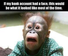 bank account face.