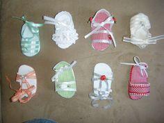 zapatitos para baby shower de nina | ... accesorios asi que una buena idea podria ser zapatitos de verano de