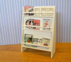 """Shop magazine rack - bought the kit - See """"Tidy books""""  on this board - could I alter this to add letters?"""