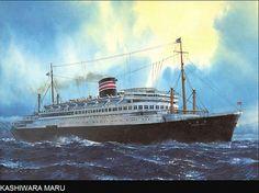 Kashiwara Maru, Nippon Yusen Kaisha (NYK), Japón. Cuando estaba en construcción fue transformado en el portaaviones Junyo, dado de alta en 1942