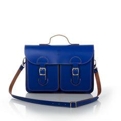 Schooltas Aktetas – OldSchool Bags – Medium – kobaltblauw