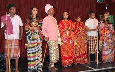 Traditional somali clothing - here we go, a good idea of what Gwanjo men and women might wear, just... thicker and warmer!