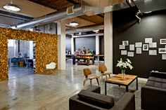 Parliament – Portland, Oregon  Repurposed and recycled materials as office decor