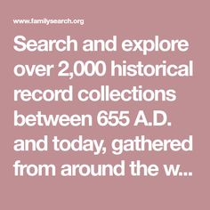 Search and explore over historical record collections between 655 A. and today, gathered from around the world. Find your ancestors and add them to your family tree. Genealogy Websites, Genealogy Research, Family Genealogy, Find Your Ancestors, Family Tree Research, The Kelly Family, Recording Studio Design, Free Family Tree, Home Studio Music
