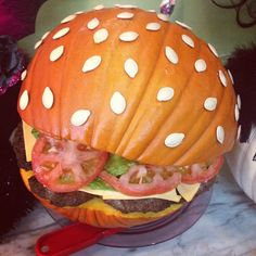 Pin for Later: Carve Your Pumpkin Into . . . A BURGER This Halloween Perfect View