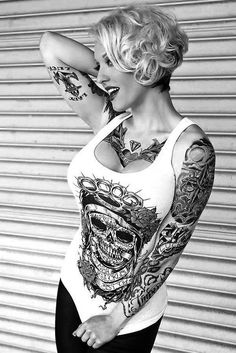 Nice match of the tats with the tee.