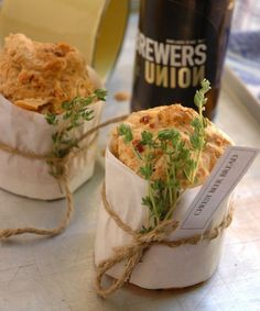 cheesy beer bread. This would be great paired with a bottle of home brew and soup as a gift basket.