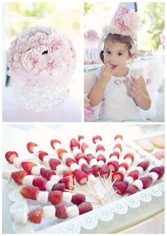 strawberry and marshmallow skewers